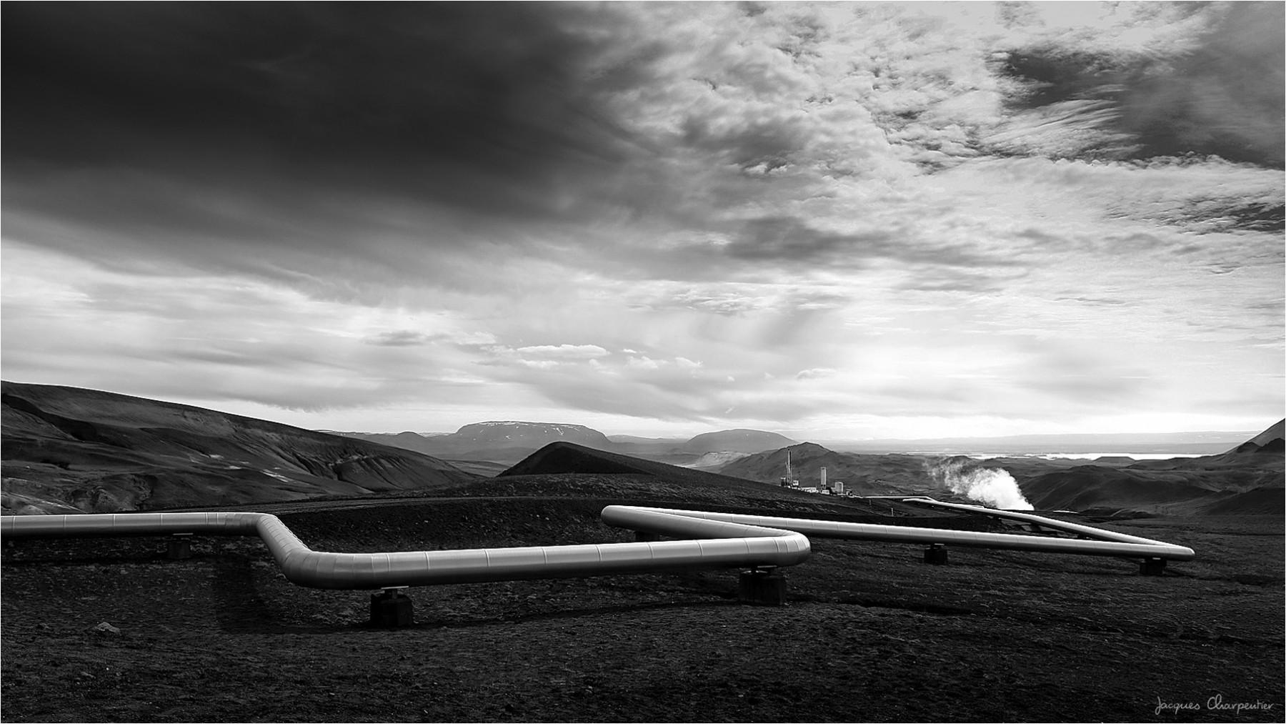 Centrale geothermique Krafla, Islande 2016 © Jacques Charpentier